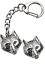 Wolf-Head-Key-ring-And-Pin-Badge-Boxed-Gift-Set-Handcrafted-In-Pewter thumbnail 1