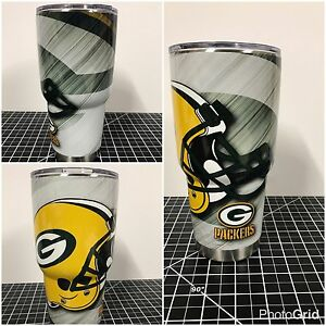 Yeti 20 Oz 30 Oz Custom Green Bay Packers Wrapped Cup