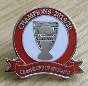 LIVERPOOL LEAGUE CHAMPIONS OF ENGLAND 2020 ENAMEL FOOTBALL PIN BADGE - IN STOCK | eBay