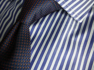 Brooks-Brothers-Luxury-Dress-Shirt-Split-Stripe-Extra-Slim-Fit-Milano-NWT-185
