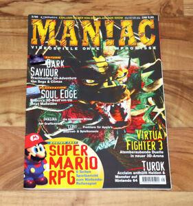 1996 Maniac Magazine Super Mario Rpg Soul Edge Kirby's Avalanche Mega Man X3-afficher Le Titre D'origine