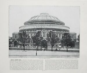 1896 London Stampa Con (Testo Royal Albert Hall