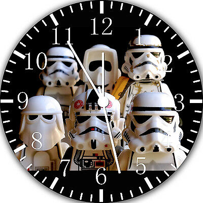 "Lego Starwars wall Clock 10"" will be nice Gift and Room wall Decor E37"