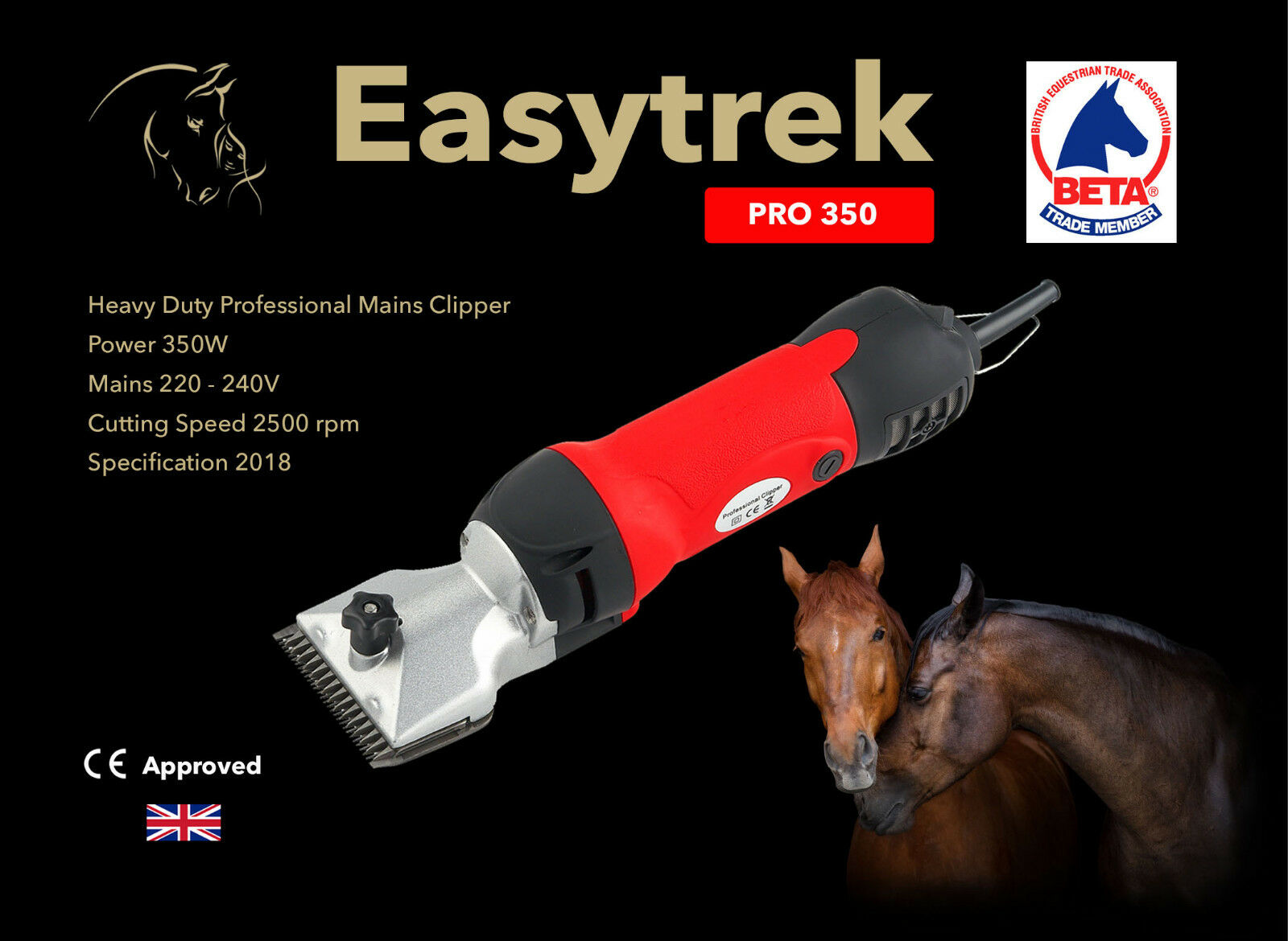 New Powerful 350W Proffesional heavy duty horse clippers / next day delivery UK