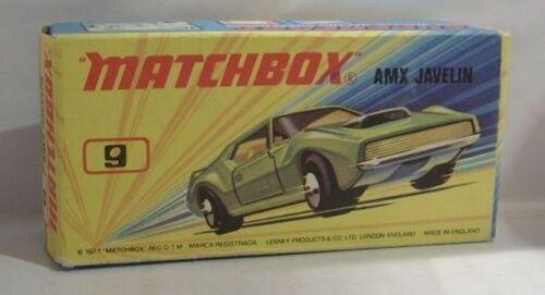 9 AMX Javelin Repro Box Matchbox Superfast Nr