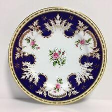 OLD COALPORT England 1800-1830 AD 1750 8249B Royal Blue, Ivory, Gold, Pink Roses