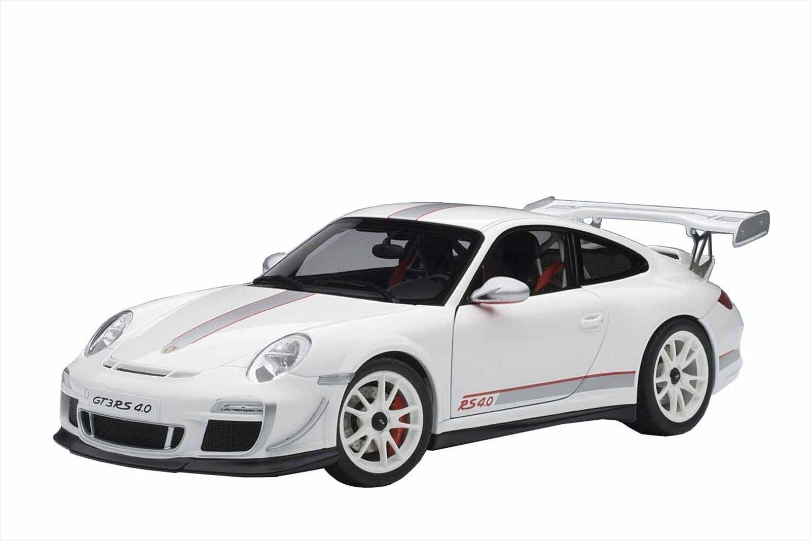 Autoart 1     18 Porsche 911 (997) gt3rs 4.0 modelo de moldeado blancoo 78147 911