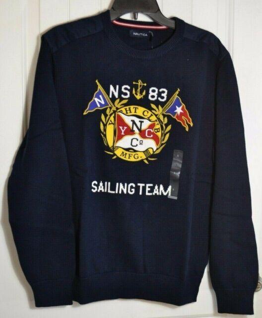 NEW NAUTICA Mens Sweater Crewneck  M L NWT