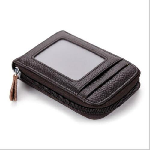 RFID Blocking Faux Leather Men Wallet Slim Pocket Card Bag ID Holder Zipper H