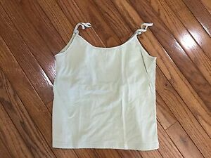 FRENCH-DRESSING-Women-039-s-Tank-Top-Cami-Built-in-Bra-Stretch-Size-M