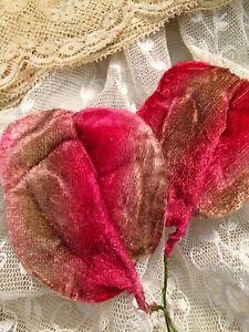 Image Is Loading Antique Vtg Fall Leaf Millinery Leaves Ombre Pink