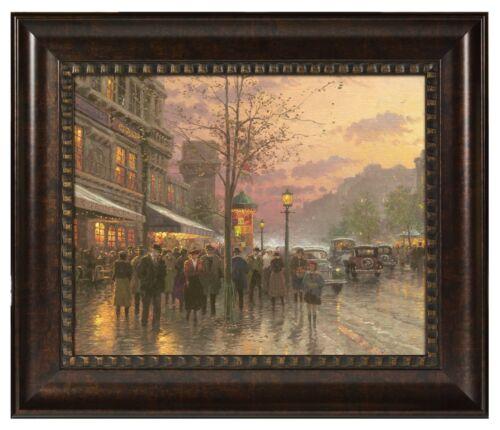 Thomas Kinkade Boulevard Lights,Paris 16 x 20 Brushstroke Vignette Framed
