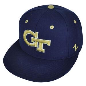 ba100d3675c NCAA Georgia Tech Yellow Jackets Zephyr Flat Bill Hat Cap Fitted ...