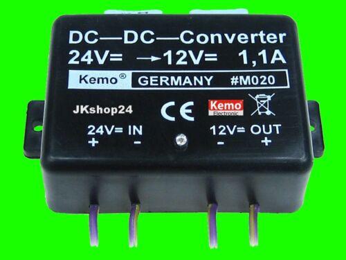 NEU KEMO Spannungswandler 24V//DC auf 12V//DC LKW//BUS-Konverter SPANNUNG-WANDLER