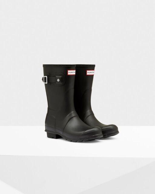 01e6189a410a Hunter Women s Size 8 Original Short Rain BOOTS Matte Black for sale ...