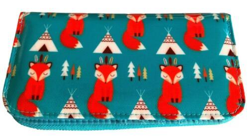 Fox Purse Ladies Foxes Green Blue Orange Large Clutch Style Money Wallet