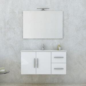 Nuovo mobile bagno design moderno 100 cm base + specchio design ...