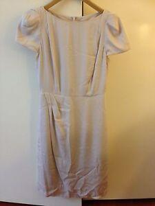 Lisa-Ho-Beige-Cap-Sleeve-Knee-Length-Dress-Size-6