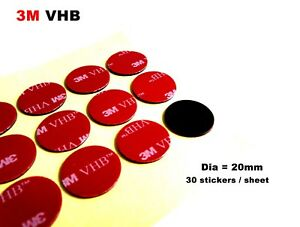 Dia-20mm-Round-Double-Sided-Adhesive-Circle-Foam-Sticker-3M-VHB-1-1mm-thick
