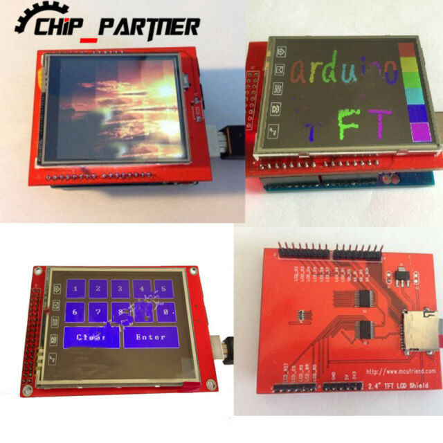 """2.4"""" TFT LCD Shield SD Socket Touch Panel Module Display for Arduino UNO"""