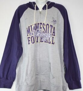 a3cb5958c Image is loading NEW-Womens-NFL-Majestic-Minnesota-Vikings-Grey-Purple-