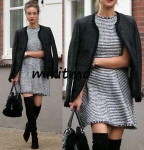 De Woman Bolsillo Medio Mostrar Original Poco Acerca Título Zara Con M Negro Abrigo Estructurado Detalles Tejida Común Chaqueta VpGqLSMjUz