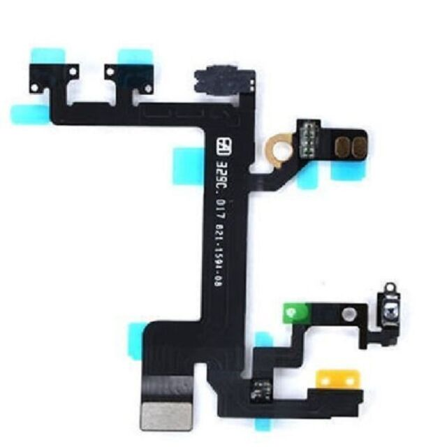 Power Mute Volume Control Button Switch Connector Flex Cable for iPhone 5S 5GS