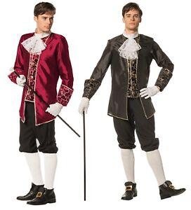 Marquis Herren Barock Rokoko Kostüm Taft Anzug Graf französisch Karneval Gehrock