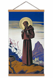 Roerich-Saint-Francis-Modernist-Painting-Canvas-Wall-Art-Print-Poster
