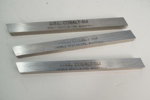 """3 New DSL UK Made 6/% Cobalt Hss Lathe Cutter Square Tool Bit 5//16/"""" x 5//16/"""" x 4/"""""""