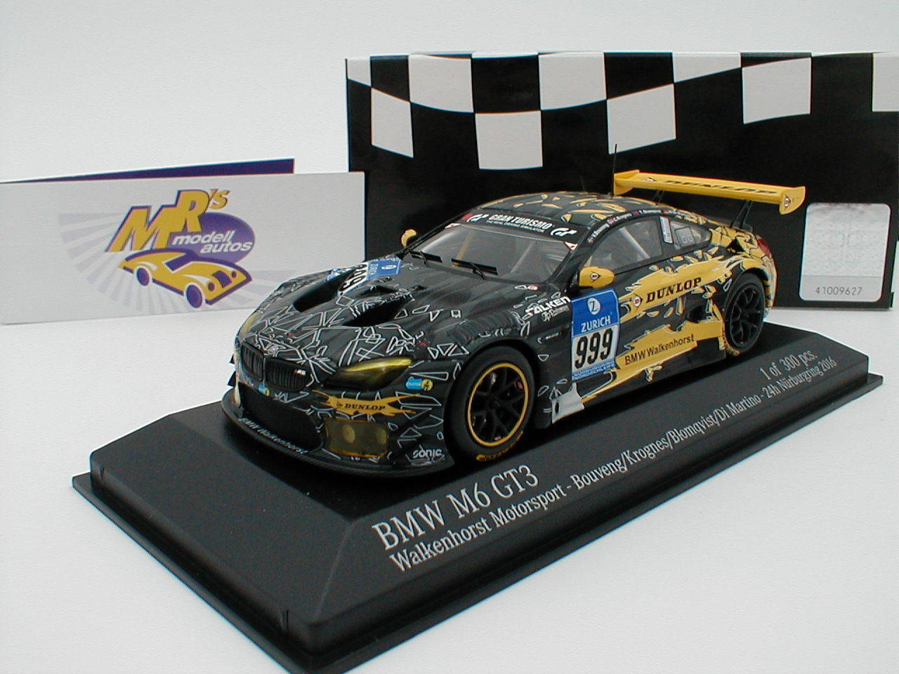 Minichamps 437162609 BMW m6 gt3 Walken Horst 24h Nürburgring 2016 1 43 NEW