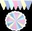 Fabric-Bunting-Wedding-Birthday-Garden-Party-Christening-Handmade-10ft-20ft thumbnail 6