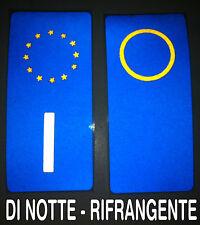 2 adesivi targa AUTO RIFRANGENTI -FIAT PUNTO PANDA- Neutri o con provincia anno