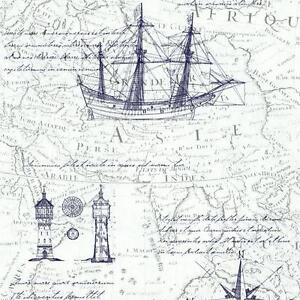 Schicke Vlies Tapete P S Times 42110 40 Seekarte Maritim Vintage