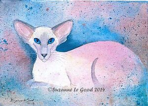 Siamese-Cat-art-print-limited-edition-from-original-painting-by-Suzanne-Le-Good
