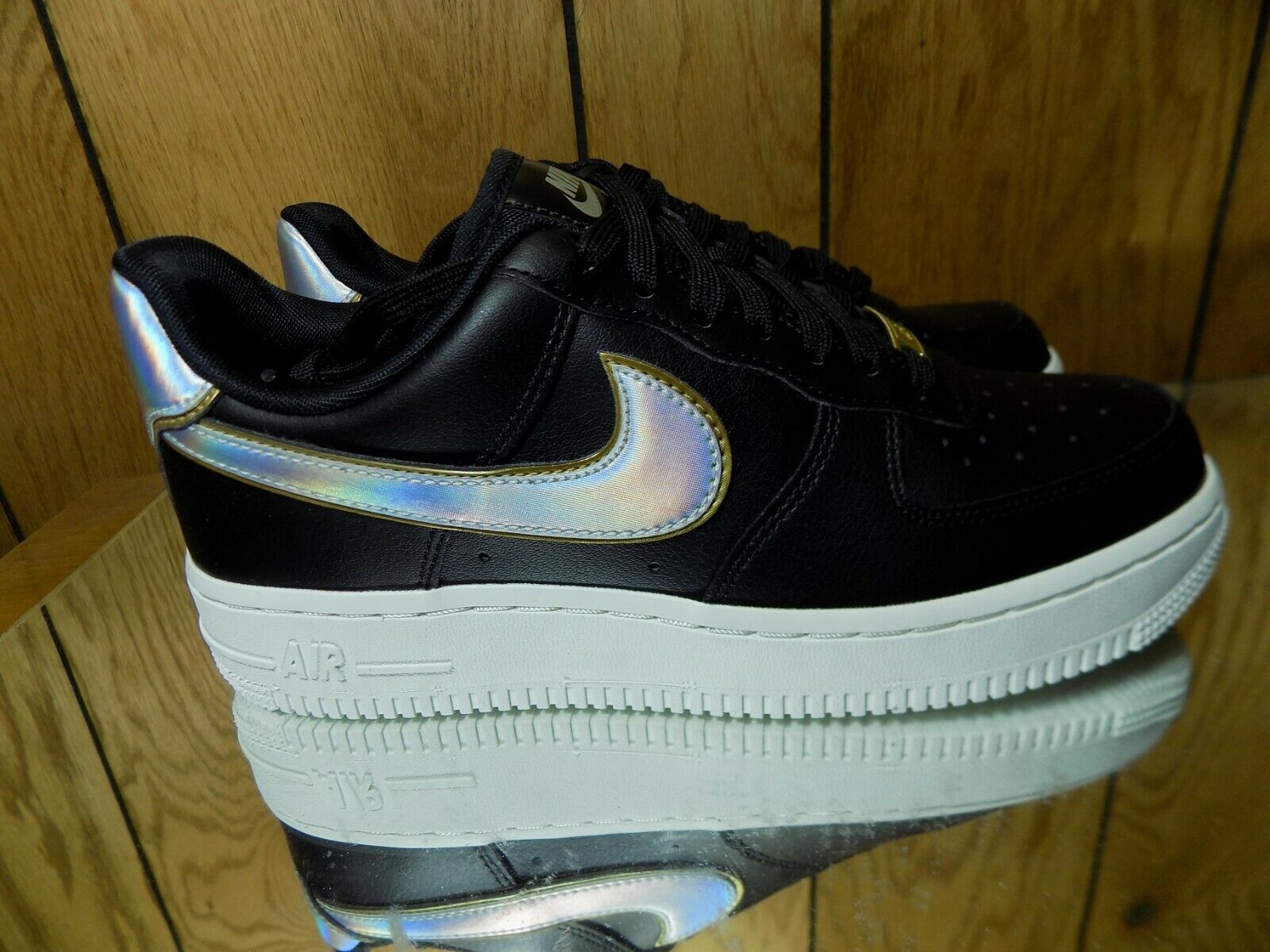 Nike WMNS Air Force Force Force 1 '07 MTLC [AR0642-002] Black Platinum Women's Size 6.5 04aefa
