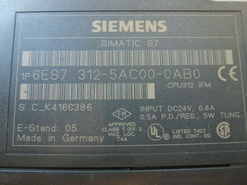 Siemens 6es7312-5ac00-0ab0 siemens 6es7 312-5ac00-0ab0 CPU 312
