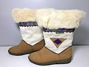 Women-039-s-GARDEN-SPORT-Leather-Fur-Wool-lined-Winter-Boots-Size-EU-38-US-7-5-8