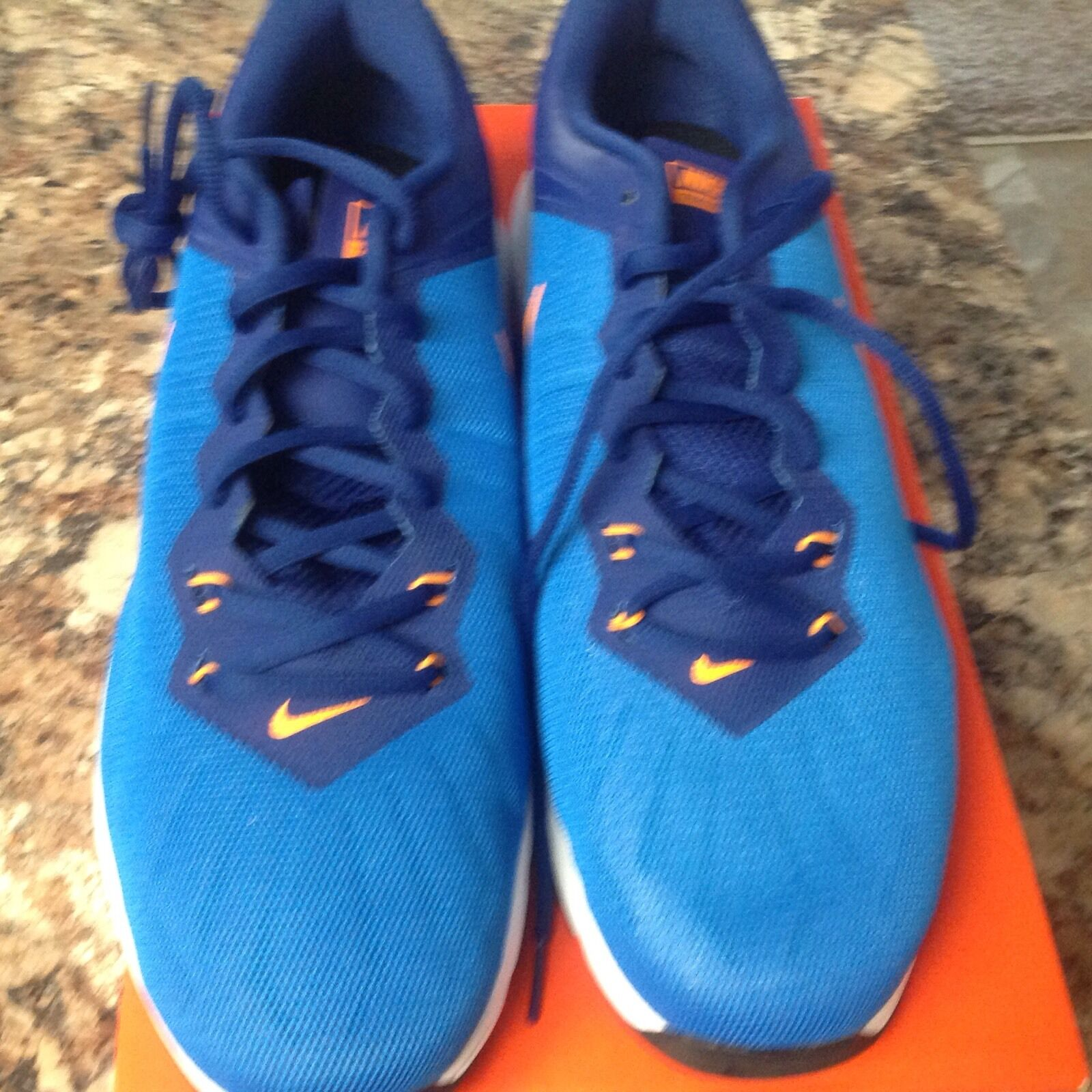 NEW Men's Nike Air Max Full Ride TR Training Shoes Blue/Orange 819004-400 Sz 13