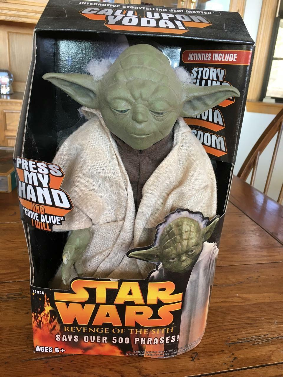 Call Upon YODA Star Wars 2005 Story Telling 12  Action Figure 500 phrase NEW NIB