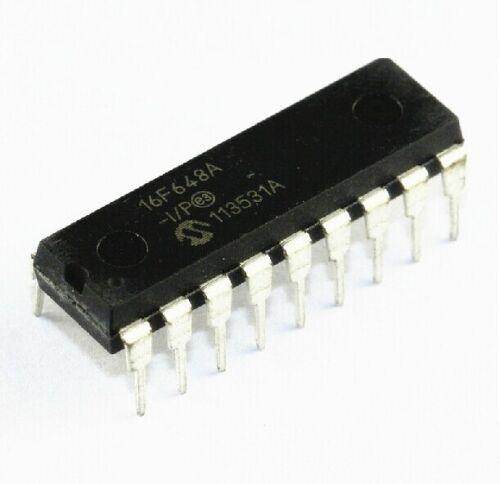 2PCS IC PIC16F648A-I//P PIC16F648 MICROCHIP DIP-18 NEW GOOD QUALITY
