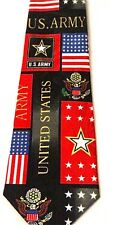 NEW UNITED STATES ARMY FLAG EMBLEM EAGLE NECKTIE NECK TIE STEVEN HARRIS SLEEVED