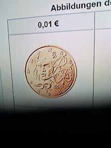 3 Kursmünzen aus KMS Frankreich aus dem Jahr 2021 1 Cent - 5 Cent