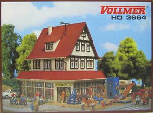 Vollmer-3664-Kindergarten-mit-Spielplatz-schoener-Bausatz-H0-1-87-Neu-OVP