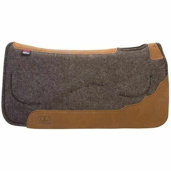 Weaver Leather contorneada en capas fieltro Silla Almohadilla Con Inserto De Gel, tan