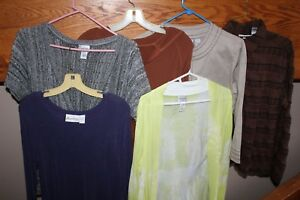 6-Pieces-CHICO-039-S-Top-SHIRTS-Tan-Jacket-SWEATERS-Purple-Travel-Knit-SIZE-1-MEDIUM