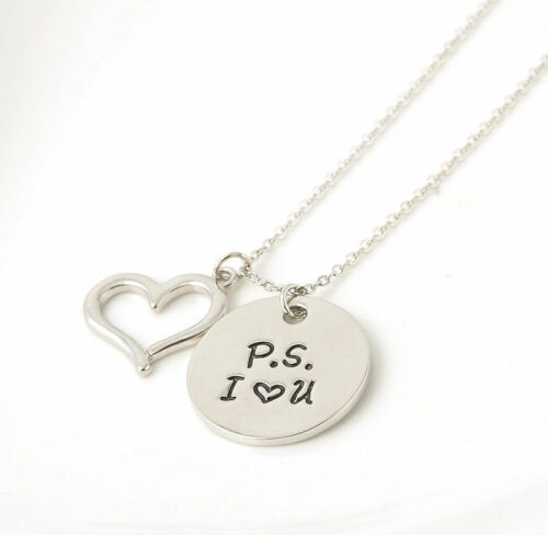 Fashion Silver Heart Love Family Necklace Pendant Women Charm Chain Jewelry Gift