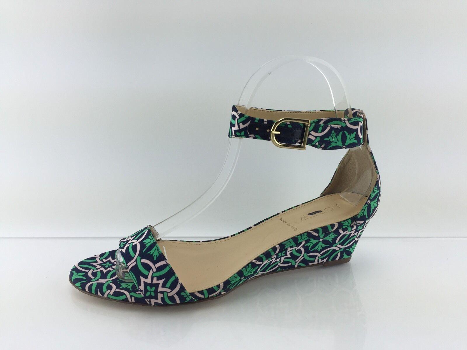 J Crew Para Para Para Mujeres verde Multi Color cuñas Sandalia 7  tienda de venta