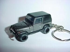 New 3d Gray Jeep Wrangler Custom Keychain Keyring Key 4x4 Offroad Sahara 1990 Ebay