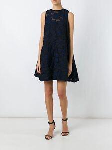 Victoria Pleat 0 Dress Jaquard Navy Originele Back Vk prijs1450 Beckham Floral 4us dBCosQthrx